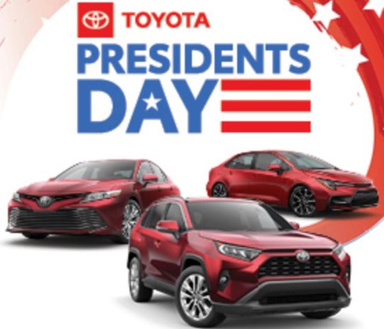 Presidents day toyota