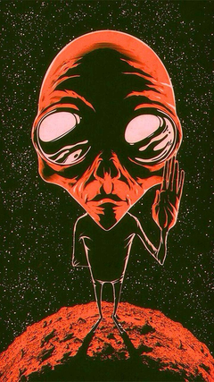 Red alien wallpapers by xGloorx