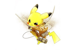 Attack on titan pikachu