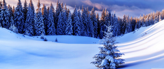 Winter Season Mountains Ultra HD Desktop Backgrounds
