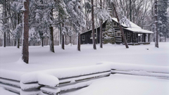 Winter Season World Brown Cabin Parks Wallpaper iPhone Wallpapers
