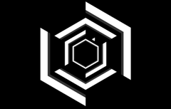 Wallpapers Black White Minimalism Super Hexagon image for