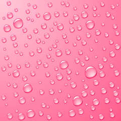 Nine Shades of Pink Recolored Raindrops pinterest