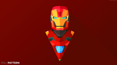 Wallpapers Iron Man abstract low poly minimalism 4k 5k iphone