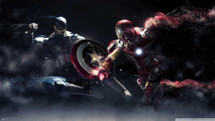Iron Man Desktop Wallpapers Captain America Vs Iron Man 4K Hd