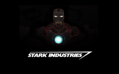 Wallpapers Iron Man Stark Industries Minimal Dark HD 5K