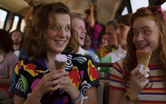x2400 Sadie Sink and Millie Bobby Brown in Stranger Things 2019