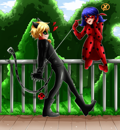 Ladybug and Cat Noir by cjwolf207 deviantart on DeviantArt