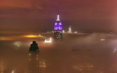 Empire state foggy Wallpapers
