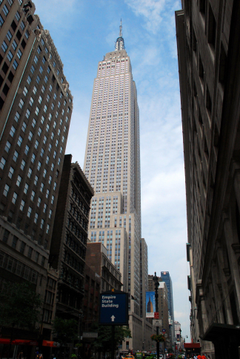 New york city manhattan empire state building wallpapers