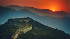Great Wall Of China At Sunset 4K UltraHD Wallpapers