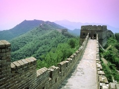 Great Wall Of China Sunrise wallpaper