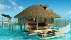 Overwater Bungalows In The Olhuveli Island Maldives HD Wallpapers