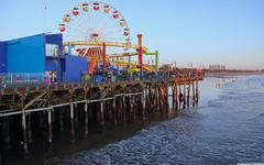 Los Angeles Santa Monica Beach 4K HD Desktop Wallpapers for 4K
