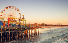 Wallpapers wave beach the sky sunset people CA Ferris wheel