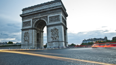 Arc de Triomphe from Paris 4K wallpapers