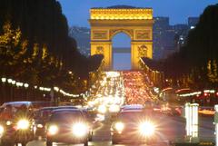 Arc de triomphe champs elysà es paris architecture cars wallpapers