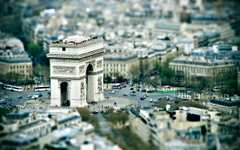 Arc de Triomphe Charles de Gaulle Paris Tilt Shift Desktop Wallpapers
