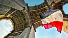 Arc De Triomphe Flag