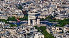 Paris cityscapes Arc De Triomphe cities wallpapers