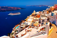 Beautiful Small Town Oia Santorini Greece Desktop Wallpapers