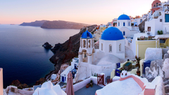 Town Oia Santorini Island Greece HD Wallpapers