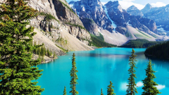 Wallpapers Moraine Lake Banff National Park Rocky Mountains 4K