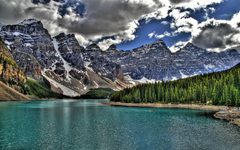 Lakes Unbelieveably Blue Serene Moraine Lake Banff National Park HD
