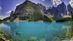 Beautiful Moraine Lake in Banff National Park Alberta Canada 4K