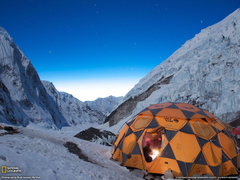 Stars Over Campsite Picture Mount Everest Wallpapers