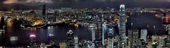 Cityscapes night buildings Hong Kong wallpapers