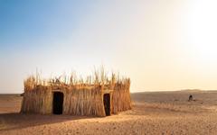 The Sahara Desert House Wallpapers HD Desktop