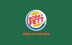 Boba fett front parody logos burger king wallpapers