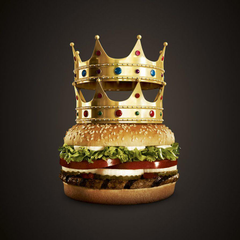 Burger With King Crown Smartphone Wallpapers Wallpapers Themes