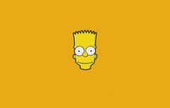 Wallpapers The simpsons Minimalism Figure Face Head Simpsons