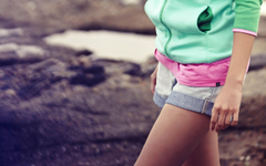 Blurred Denim Shorts Instagram Women