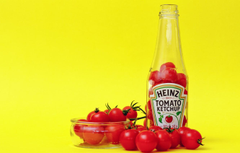 Wallpapers bowl bottle tomatoes ketchup Heinz image for desktop
