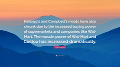 Charlie Munger Quote Kellogg s and Campbell s moats have also