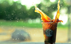 Starbucks Coffee Splash Spray Hd Wallpapers