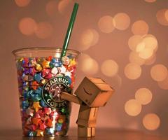 Danbo Starbucks wallpapers for mobile phone