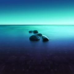 Wallpapers Beach Stones Seascape Ocean Horizon Huawei Nova 4e