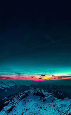 Sky On Fire Mountain Range Sunset iPhone 4s Wallpapers