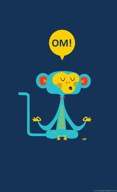 Om Cute Monkey iPhone 4s Wallpapers Desktop Backgrounds
