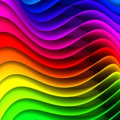 Colorful Wavy Designs IPad Air Wallpapers