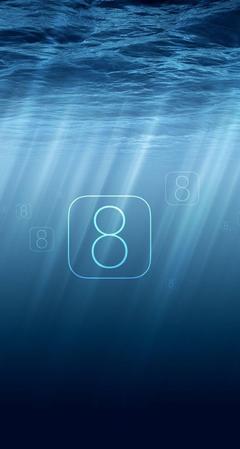 Ocean Sunlight iOS 8 iPhone 5s Wallpapers