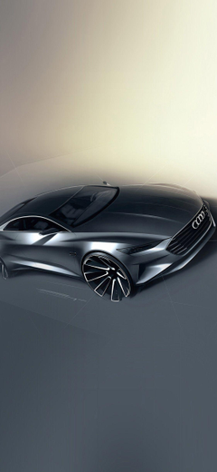 Audi concept car art iPhone XS and iPhone XS Max Wallpapers HD