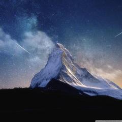 Milky Way Mountain by Yakub Nihat 4K HD Desktop Wallpapers for 4K