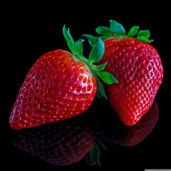 Strawberries On Black Backgrounds 4K HD Desktop Wallpapers for 4K