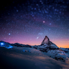Stars And Snow Night In The Alps Samsung Galaxy Tab 10 wallpapers