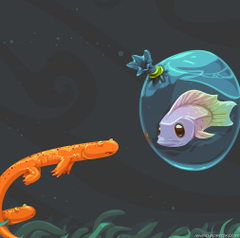 Axolotls Vector Art full hd ipad wallpapers